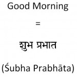 How to say goodmorning in Hindi