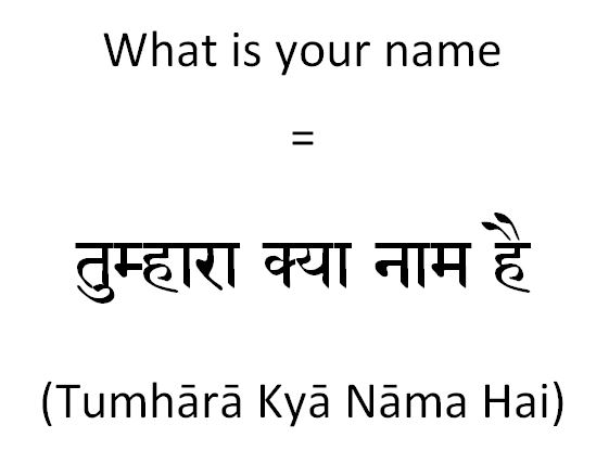 How to say what is your name in Hindi to a colleague