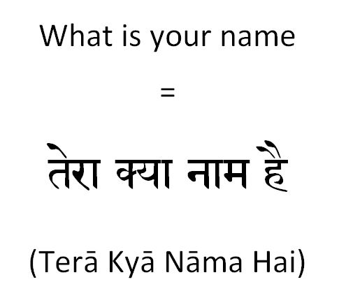 How to say what is your name in Hindi to a junior