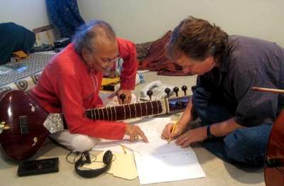 Barry Phillips with Pt. Ravi Shankar
