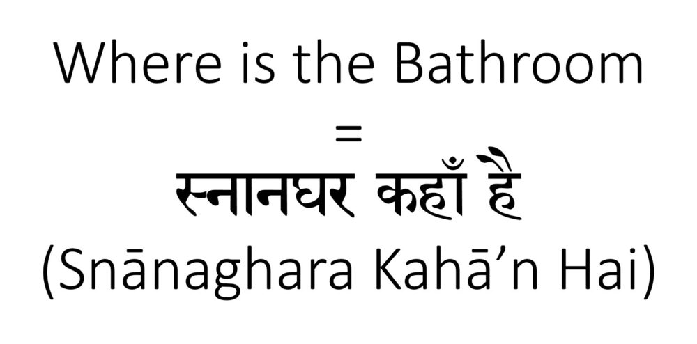 Where is the bathroom in Hindi